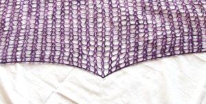 návod na háčkovaný šátek,blokování šátku